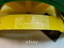 Vtg Snapback Trucker Hat Cap Farm JOHN DEERE Tractor Yellow Mesh Farmer Seed NOS