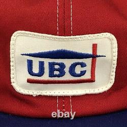 Vtg UBC United Building Center Trucker Hat K-Brand Patch Snapback Baseball Cap