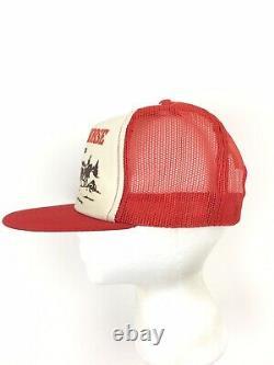 Vtg Work Horse Chewing Tobacco Hat Logo Mesh Foam Snap Back Trucker Farmer Cap