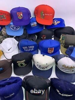 Vtg lot (40) Trucker Baseball hat cap snapback Stihl patch two tone 70s 80s 90s
