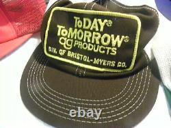 16 Vintage Snapback Trucker Chapeaux Tous Fabriqués Aux États-unis 80s Tracteurs Farming Patch