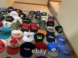 160 Chapeaux Vintage 70s 80s 90s Snapback Trucker Hat Collection Caps Cap Lot