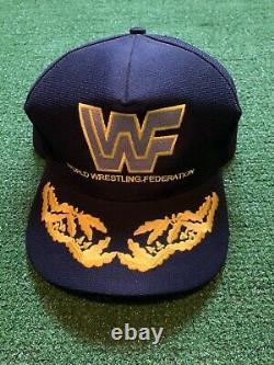 1988 Très Rare Wwf World Wrestling Federation Vintage Trucker Hat Snapback Etats-unis