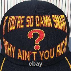 295 Million Dollar Question 3 Stripe Mesh Camionneur Trois Stripe Snapback Cap