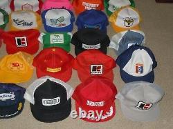 42 Hat Lot Vintage Farm Patch Logo Snapback Mesh Trucker Cap Nouveau Produit De Marque K