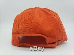 90 Vtg Oj Simpson Hacker Ouvert Corduroy Orange Strapback Camionneur Cap Golf