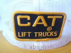 Cat Lift Trucks Patch Hat Vtg Maillage Complet Court Bill Pom Pom Snapback Trucker