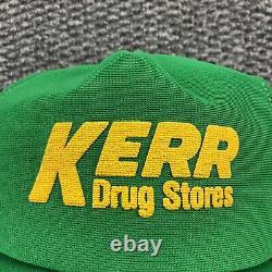 Chapeau De Camionneur Vintage Cap Fait USA 3 Stripe Mesh Snapback Farmer Kerr Drug 80s