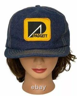 Denim Louisville Mfg Camionneur Chapeau Padgett Grue USA Fabriqué Vintage Snapback