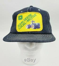 Denim Vintage John Deere Snapback Chapeau De Camionneur Patch Cap Louisville USA Rare Htf