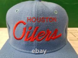 Houston Oilers Snapback Camionneur Chapeau Vintage Script Sports Spécialités NFL