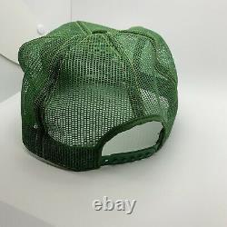 John Deere Green Mesh Louisville Ky Mfg Camionneurs Hat Cap Vintage USA Patch