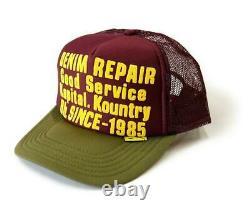 Kapital Kountry Denim Repair Service Pt 2tone Camion Chapeau Chapeau Camionneur Kaki Enji
