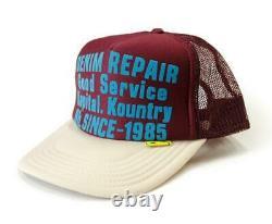 Kapital Kountry Denim Repair Service Pt 2tone Casquette De Camion Chapeau Camionneur Naturel Enji