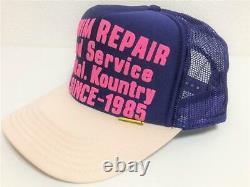 Kapital Kountry Denim Repair Service Pt 2tone Casquette De Camion Chapeau Camionneur Violet Natur