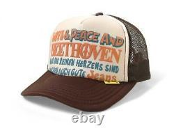 Kapital Kountry Love&peace Beethoven Truck Cap Hat Trucker Flambant Neuf Kinar Brun