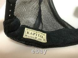 Kapital Kountry Love&peace Beethoven Truck Cap Hat Trucker Flambant Neuf Noir