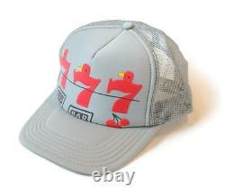 Kapital Kountry Lucky Battery Bird Trucker Cap Chapeau En Maille Gris Rouge Flambant Neuf