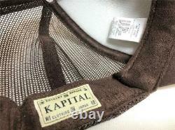 Kapital Kountry Washing Denim Casquette De Camion Chapeau Camionneur Brun Nouveau