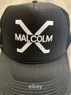 Lot 12 Vintage Malcolm X Hat Snapback Cap 90s Trucker Mesh Black History Rare