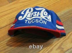 Lot 2 Vintage Made In USA 3 Stripe Pepsi Cola Tucson Az Trucker Hat Casquette De Baseball