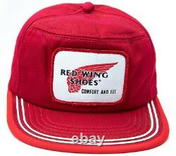 Mint Nos Vintage Red Wing Chaussures Snapback Trucker Chapeau Made In USA Taille M Rare
