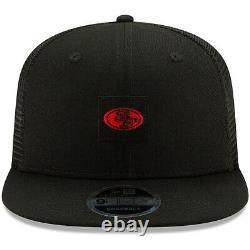 New 2020 San Francisco 49ers New Era Shanahan Square Trucker 9fifty Snapback Hat