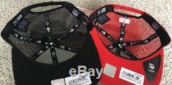 New Era Noir Rouge San Francisco 49ers Chapeau De Camionneur Carré Snapback Shanahan 100