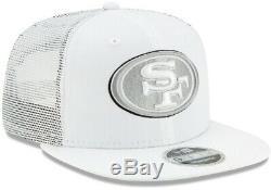 New Era San Francisco 49ers Shanahan Camionneur Blanc 9fifty Casquette Chapeau De La Niner