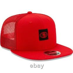 New Era San Francisco 49ers Shanahan Scarlet Snapback Square Trucker Cap NFL 100