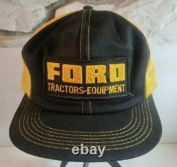 Nos Vintage Ford Tracteurs Équipement Snapback Trucker Chapeau 70 Rare K Produits