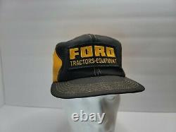 Nos Vintage Ford Tractors Équipement Snapback Trucker Hat Cap 70s Rare K Produits