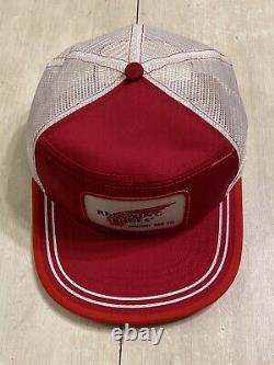 Nos Vintage Red Wing Chaussures Snapback Chapeau De Camionneur Cap Fabriqué Aux États-unis Taille L Deadstock