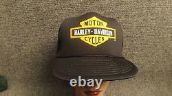 Nos Vtg Vintage Harley Davidson Motos Camionneur Mousse Mesh Snapback Hat/cap
