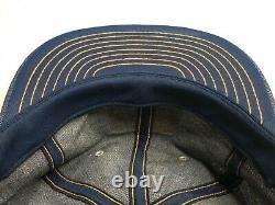 Nouveau Vintage 70s Allis Chalmers Denim Louisville Mfg Co Snapback Trucker Hat Cap