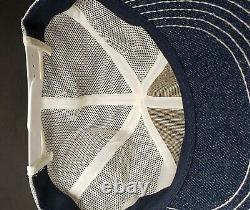 Nwot Vintage Ford New Holland Denim Snapback Trucker Hat Casquette 70s Produits Rare K