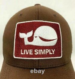 Patagonia Rare Big Whale Live Simply Brown Snapback Trucker Baseball Cap Hat