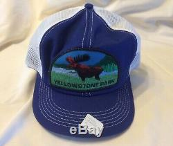 Rare Vintage Années 1980 New Yellowstone Parc Chapeau Snapback K-marque Trucker Moose