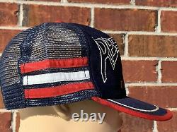 Rare Vintage Années 90 Ole Miss Rebels Logo Athletic Snapback Trucker Hat Colonel Reb