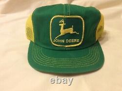 Rare Vintage John Deere Chapeau De Snapback Trucker K-products Patch