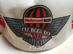 Rare Vintage Motorcraft 3 Stripe Trucker Hat Snapback Cap Air Force USA Rare Nouveau
