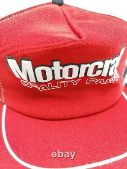 Rare Vintage Motorcraft Parts Trucker 3 Stripe Cap Hat USA Made
