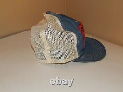 Rare Vintage Stihl Trucker Pat Hat Cap K-produits Denim Snapback Chainsaw