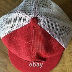 Rare Vtg 80's Red Wing Shoes Patch Trucker Hat Mesh Cap USA Nos Mint Snapback