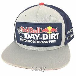 Red Bull Motocross Grand Prix Patch Cap Racing Troylee Logo Snapback Trucker Hat