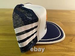 Scies À Chaîne Super Rare Stihl 3 Three Stripe Mesh Foam Snapback Trucker Cap Hat Vtg
