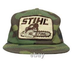 Stihl Tronçonneuses K Produits Camo Mesh Snapback Chapeau De Camionneur Casquette Vintage USA Made