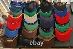 Tous Les USA Lot 0f 24 Vintage Mesh Snapback Flat Bill Trucker Hat Casquette Aucun Dommage Cat