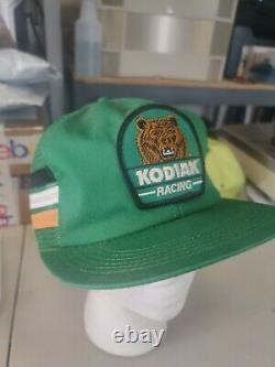 Vintage 3 Bandes Kodiak Racing Chapeau Chapeau Snapback Patch Camionners K-produits