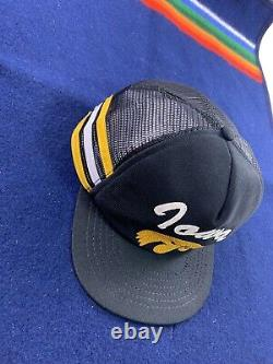 Vintage 3 Stripe Chapeau Camionneur Snapback Cap Yellow University Iowa Hawkeyes